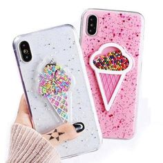 iPhone X Ice Cream Sprinkles Case Pick your favorite color today! Keep your phone safe and your brain amused while you watch the sprinkles move about. This stunning phone case is made to fit your iPhone X perfectly. Iphone 10, Apple Iphone 6, Iphone 7 Plus, Diy Iphone Case, Coque Iphone, Iphone Phone Cases, Cellphone Case, Unicorn Iphone 6 Case, Pink Iphone