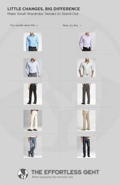 Back to Basics: Make minor outfit tweaks to stand out from the crowd. Little changes, big difference.