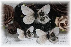 Worn Rose Butterfly Embellishments for by LittleScrapShop on Etsy, $3.50. I love these!