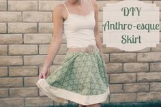 DIY Anthropologie skirt