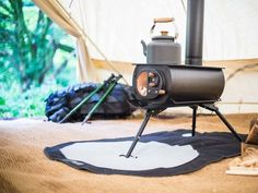 Portable woodstove folds down, heats up tents, yurts & tiny homes. http://www.treehugger.com/sustainable-product-design/frontier-plus-portable-woodstove-anevay.html
