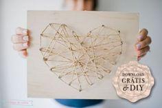 tuto pour coeur - DIY for a heart string art