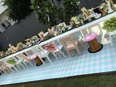Perfectly recreated tea party table from Vintage Alice in Wonderland Birthday Party at Kara's Party Ideas.