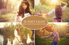 """Sunset Light"" photo overlays bundle by BrownLeopard on @creativemarket"