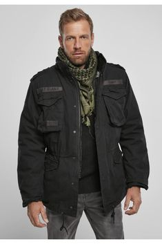 All Weather Jackets, Winter Jackets, Military Jacket, Camo, Urban Classics, Professional Look, Black And Navy, Vintage, Urban