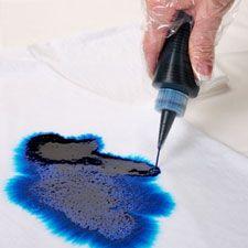 Salt Resist: dye using squirt bottles, then add salt to your cloth.... wonderful results!
