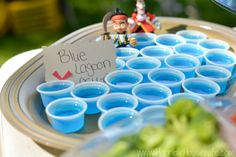 Blue lagoon (JELL-O) at a Jake and the Neverland Pirates party
