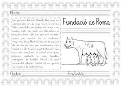 Mi grimorio escolar: RÓMULO Y REMO: LA FUNDACIÓN DE ROMA Remo, Teaching Writing, Sheet Music, Culture, How To Plan, History, Words, School, Sangria