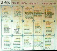 Navkar mantra in different languages