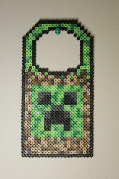 Perler beads Minecraft doorknob hanger