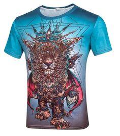 6b8726c8 Personalized lion t shirt for men short sleeve geometric t shirts. Men's  Clothing · Tops & Tees