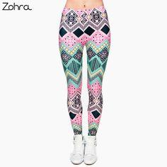 322f8d25cbf Zohra Brand New Fashion Aztec Printing legins Punk Women s Legging Stretchy  Trousers Casual Slim fit Pants Leggings
