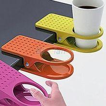 1 unid nuevo estilo del ministerio del interior de la bebida de café taza plástica del sostenedor del Clip Desk mesa dulces colores venta 01K2 3BQY(China (Mainland))