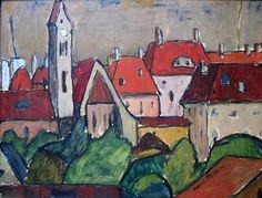 landscape, Albert Bloch
