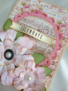Beautiful Shabby Chic handmade card.  on eBay