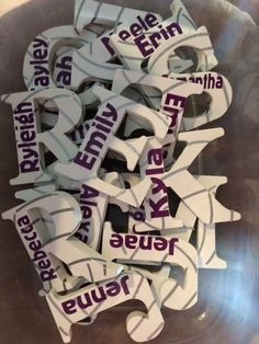 Volleyball wooden letters personalized with permanent vinyl. Magnets on back for lockers.