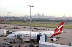 Qantas Jumbo Boeing 747-48E VH-OEB International Terminal, Sydney Airport, N.S.W. Australia.