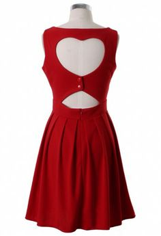 Heart Cut Out Pleated Dress