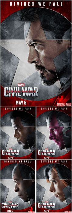 Whose side are you on? On #TeamIronMan, we find members The Vision, Black Widow, War Machine and Black Panther. Captain America: Civil War is in theaters May 6, 2016!