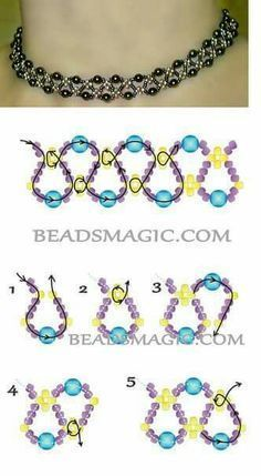 Free pattern for necklace Emprise The post Free pattern for necklace Emprise appeared first on Beautiful Daily Shares. jewelry beaded - Free pattern for beaded necklace Emprise U need: seed beads (yellow at the pattern) seed Seed bead jewelry daisy chain Seed Bead Jewelry, Bead Jewellery, Wire Jewelry, Jewelry Crafts, Handmade Jewelry, Seed Beads, Handmade Wire, Jewelry Ideas, Jewelry Findings