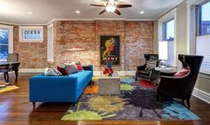 Exceptional Living Room Design Ideas With Brick Wall Accents