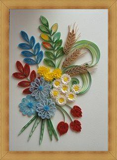 Obrazek bukiet kwiatków