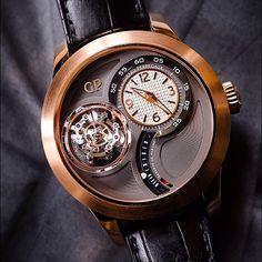 Fresh shot of our triaxial tourbillon. Girard Perregaux timepiece.