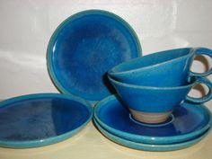 FROM: www.Klitgaarden.net Kähler (Herman A. Kähler) tea cups from 1960-70s. Signed HAK.