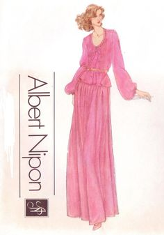 Vintage 1970s Albert Nipon Vogue American Designer by CloesCloset