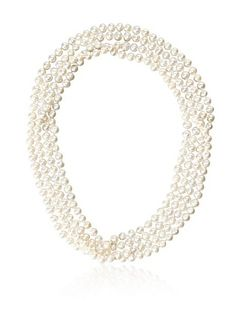 66% OFF Jardin Freshwater Pearl & CZ Ball Wrap Necklace