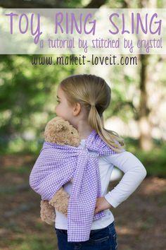 Κούκλα Ring Sling Carrier Tutorial |  μέσω Make It και την αγάπη