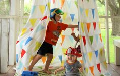 Give your little one a place to adventure with these teepees, tents and playhouses that you can make for under $50.