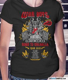 1a93a8ca2691 Mad Max inspired tee War Boys Road to Valhalla feat. Doof Warrior. Mad Max. LeRage  Shirts