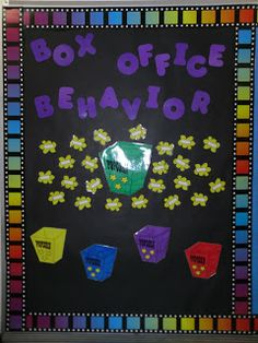 Box Office Behavior--each class could earn a piece of popcorn for good behavior during lessons