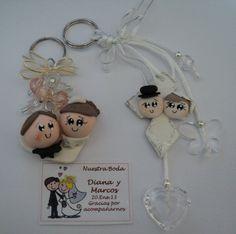 recuerdo para boda llavero novios personalizados + regalos!