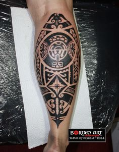 Design inspired by borneo,maori,polynesian and marquesan tattoos