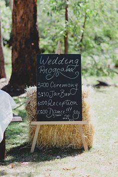 rustic outdoor wedding signage | www.onefabday.com
