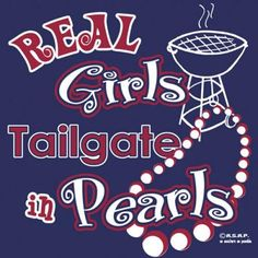 "Ole Miss ""Real Girls Tailgate In Pearls"" T-Shirt"