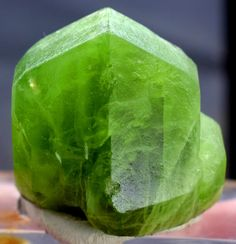 Peridot Crystal , Olivine Peridot Specimen from Supat Pakistan - 62 Gram , 35*29*38 mm