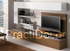 Ideas de modelos de amoblamientos modulares para sala tv audio