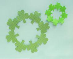 kirigami shamrock/clover decorations