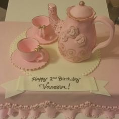 Tea Party Cake with edible toppers