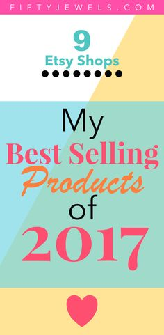 Best Sellers 2017 - In 2017 I opened 9 Etsy Shops -- YIKES! Find out how the journey went and what the Best Selling products were for the year. This is a great way to get ideas for your own online business to help you work from home! #onlinebusiness #SAHM #sidehustle #bestsellers #watercolor #clipart