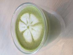 Green Tea Latte Art. #tavalon #tea #latte