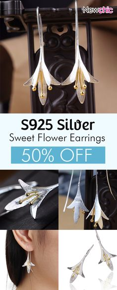 [Newchic Online Shopping] 50% OFF JASSY® S925 Silver Vintage Earrings