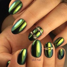 84 Best Green Nails Images On Pinterest In 2018 Green Nails