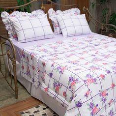 Roupa de cama com estampas de flores