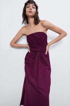 Off The Shoulder, Shoulder Dress, Zara Home Stores, Strapless Dress Formal, Formal Dresses, Robes Midi, Mi Long, Zara Dresses, Mannequin