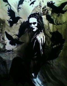Brandon Lee as The Crow The Crow, Fantasy Anime, Dark Fantasy, Fantasy Art, Brandon Lee, Stairway To Heaven, Comic Books Art, Comic Art, Crow Movie