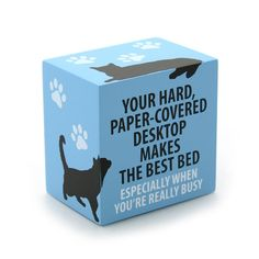 Paper Covered Desk Cat Block Plaque